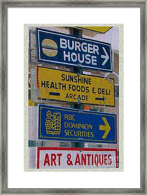 Framed Print featuring the photograph Vintage Nassau Bahamas Sign by Ecinja Art Works