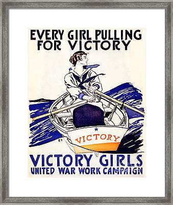 Vintage Navy Poster Framed Print by Jon Neidert