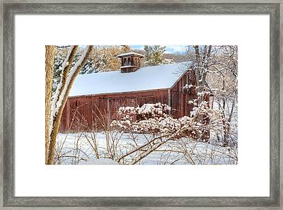 Vintage New England Barn Framed Print by Bill Wakeley