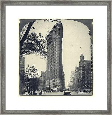 Vintage New York City Flatiron Building Framed Print