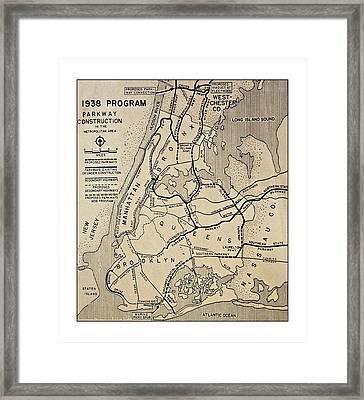 Vintage Newspaper Map Framed Print by Susan Leggett