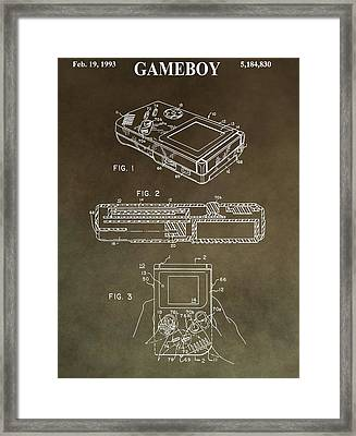 Vintage Nintendo Patent Framed Print by Dan Sproul