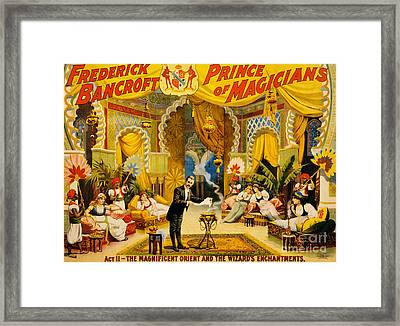Vintage Nostalgic Poster - 8039 Framed Print by Wingsdomain Art and Photography