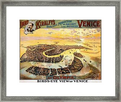 Vintage Nostalgic Poster - 8054 Framed Print by Wingsdomain Art and Photography