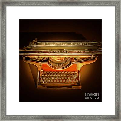 Vintage Nostalgic Typewriter 20150228 Square Framed Print by Wingsdomain Art and Photography