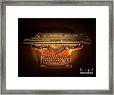 Vintage Nostalgic Typewriter 20150228 Framed Print by Wingsdomain Art and Photography