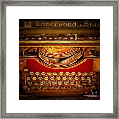 Vintage Nostalgic Typewriter 20150228v2 Square Framed Print by Wingsdomain Art and Photography