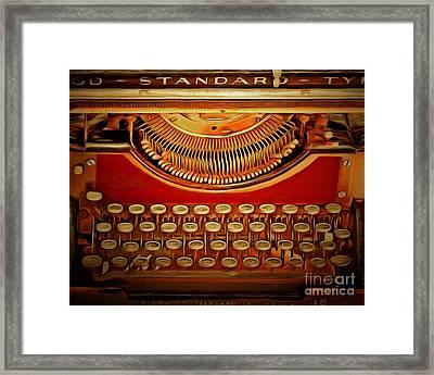 Vintage Nostalgic Typewriter 20150228v2 Framed Print by Wingsdomain Art and Photography