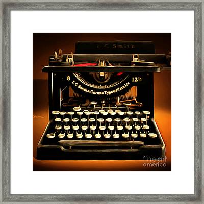 Vintage Nostalgic Typewriter 20150302 Square Framed Print by Wingsdomain Art and Photography