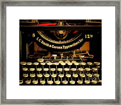 Vintage Nostalgic Typewriter 20150302n2 Horizontal Framed Print by Wingsdomain Art and Photography