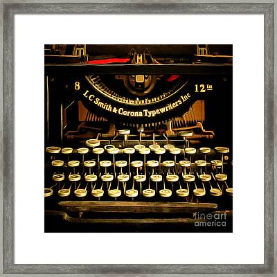 Vintage Nostalgic Typewriter 20150302n2 Square Framed Print by Wingsdomain Art and Photography