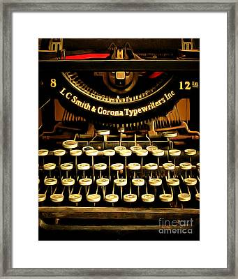 Vintage Nostalgic Typewriter 20150302n2 Vertical Framed Print by Wingsdomain Art and Photography