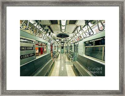 Vintage Nyc Subway Train Framed Print