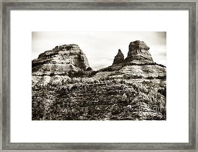 Vintage Oak Creek Canyon Framed Print