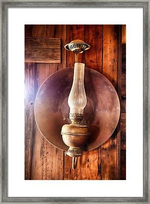 Vintage Oil Lamp  Framed Print by Saija  Lehtonen