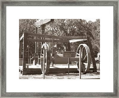 Vintage Oil Rig Santa Rita No. 1 Framed Print