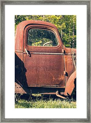 Vintage Old Rusty Truck Framed Print by Edward Fielding
