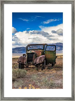 Vintage Old Truck Framed Print by Robert Bales