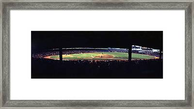 Vintage Yankee Stadium  Framed Print by Retro Images Archive