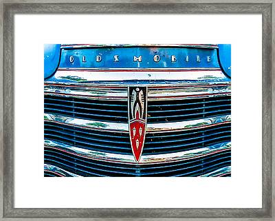 Vintage Olds Framed Print by Jon Woodhams