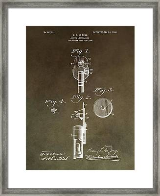 Vintage Ophthalmoscope Patent Framed Print