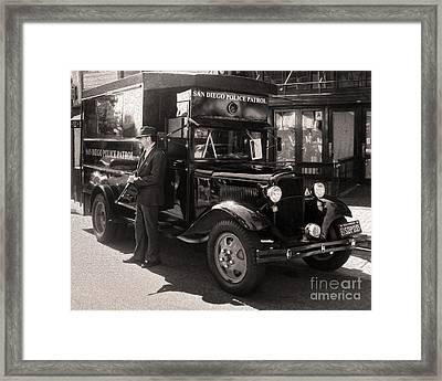 Vintage Paddy Wagon Framed Print
