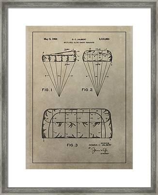 Vintage Parachute Patent Framed Print by Dan Sproul
