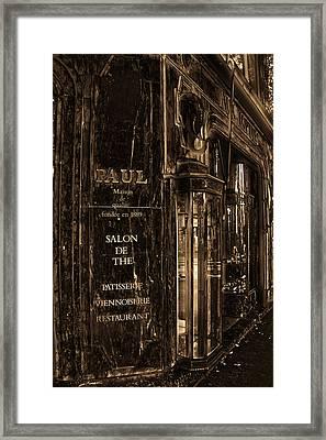 Vintage Paris Bakery Framed Print