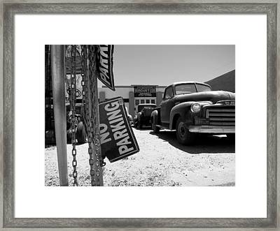 Vintage Parking Framed Print