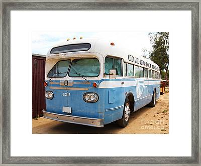 Vintage Passenger Bus 5d28384 Framed Print by Wingsdomain Art and Photography
