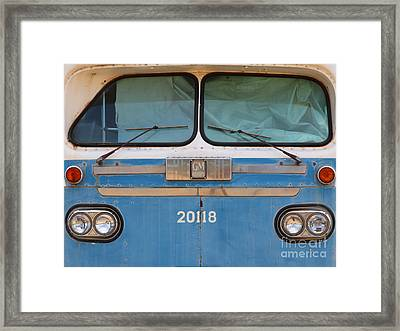 Vintage Passenger Bus 5d28398 Framed Print by Wingsdomain Art and Photography