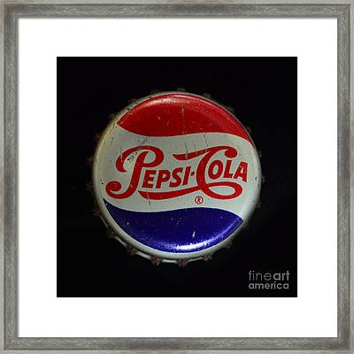 Vintage Pepsi Bottle Cap Framed Print