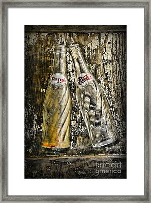 Vintage Pepsi Bottles Framed Print by Paul Ward