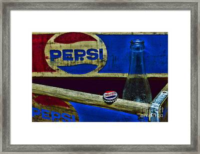 Vintage Pepsi-cola Framed Print by Paul Ward