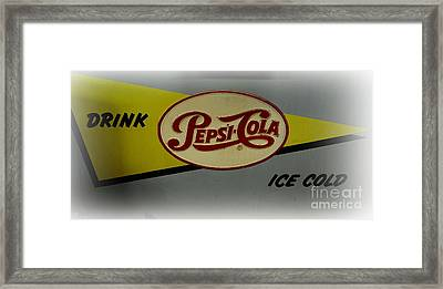 Vintage Pepsi Framed Print by Paul Ward