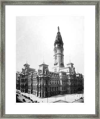 Vintage Philadelphia City Hall Framed Print