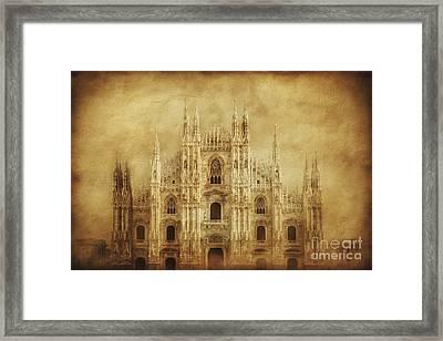 Vintage Photo Of Duomo Di Milano Framed Print