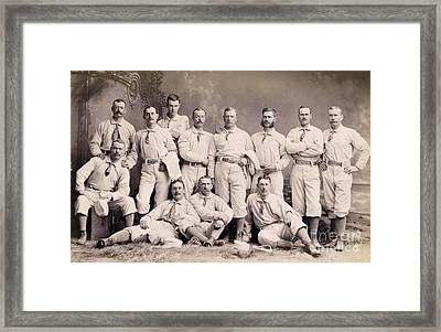 New York Metropolitans Baseball Team Of 1882 Framed Print by Jon Neidert