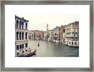 Vintage Photo Of Venice Grand Canal Framed Print
