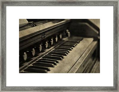 Vintage Piano Framed Print by Dan Sproul