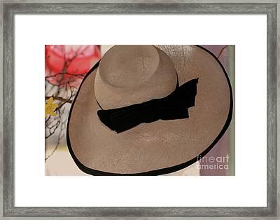 Vintage Picture Hat Framed Print by Kathleen Struckle