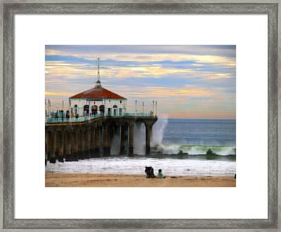 Vintage Pier Framed Print by Joe Schofield