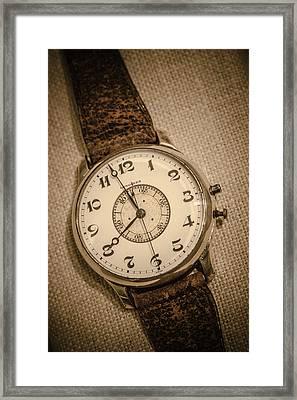 Vintage Pilots Watch Framed Print