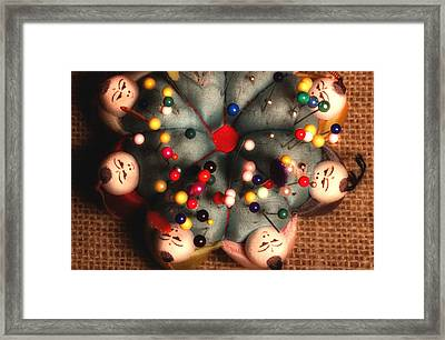 Vintage Pin Cushion Framed Print by Michael Eingle