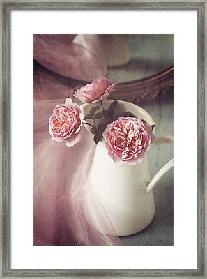 Vintage Pink Framed Print by Amy Weiss