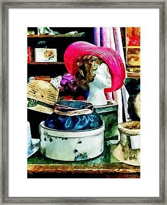 Vintage Pink Hat Framed Print by Susan Savad