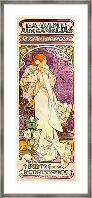 Vintage Playbill 1896 Framed Print by Padre Art
