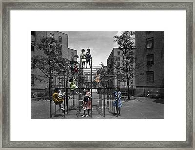 Vintage Playground Framed Print by Andrew Fare