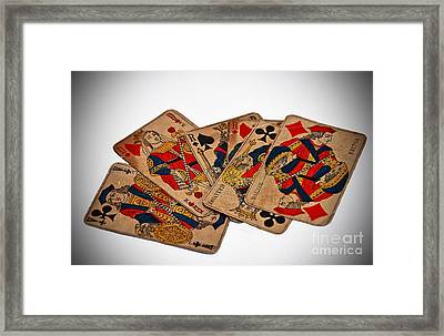 Vintage Playing Cards Art Prints Framed Print