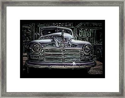 Vintage Plymouth Art Denim Dream Framed Print by Lesa Fine